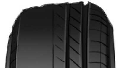 Tyre tread symptom: bald or excessive tyre wear patches (image from linda054.wixsite.com)
