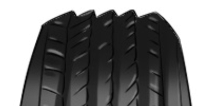 Tyre tread symptom: Feathering (image from linda054.wixsite.com)