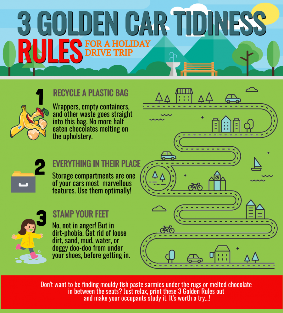3 Golden Car Tidiness Rules for a Holiday Drive Trip
