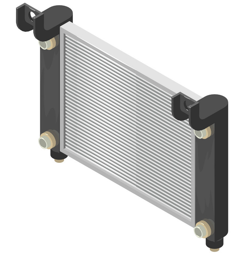 Car radiator illustration