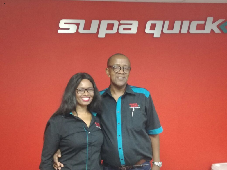Supa Quick Abbotsford owners, Pumza Gcanga and Bafana Gcanga.
