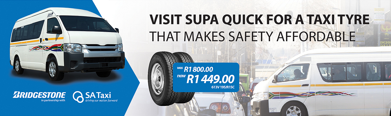 Save more than R350 on Bridgestone Taxi Tyre