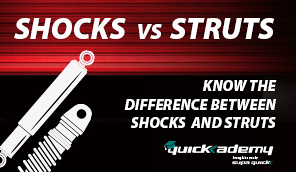 What's the difference between shocks and struts?